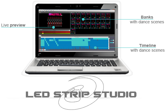 LED Strip Studio is software to control LEDs and our LED suits